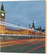 Houses Of Parliament Wood Print by Ray Wise