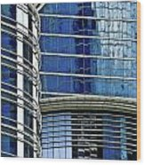 Houston Architecture 1 Wood Print