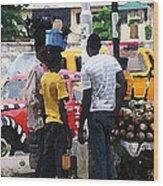 How Market Lagos Wood Print