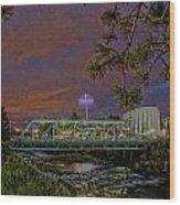 Howard St Bridge Pavillion Imax Wood Print