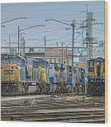 Howell Yards Evansville Indiana Wood Print by Jim Pearson