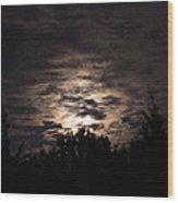 Howling Werewolves Wood Print