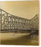Howrah Bridge Wood Print by Mukesh Srivastava