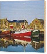 Howth Harbour, County Dublin, Ireland Wood Print