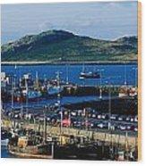 Howth Harbour & Irelands Eye, Co Wood Print