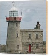 Howth Lighthouse 0001 Wood Print