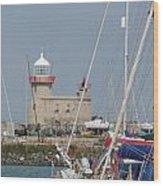 Howth Lighthouse 0004 Wood Print