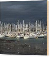 Howth Yacht Club Marina, Co Dublin Wood Print