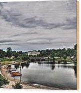 Hoyt Lake Delaware Park 0001 Wood Print