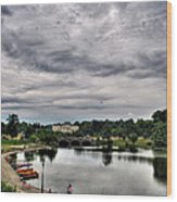 Hoyt Lake Delaware Park 0003 Wood Print