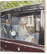 Hrh Prince Charles And Camilla Wood Print