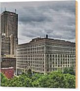 Hsbc Tower    Ellicott Square Buliding Wood Print