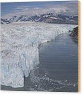 Hubbard Glacier Encroaching On Gilbert Wood Print
