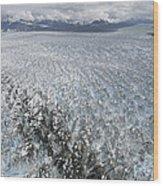 Hubbard Glacier, Gilbert Point Wood Print