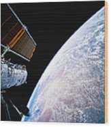 Hubble Space Telescope Wood Print
