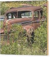 Hudson Sedan Wood Print