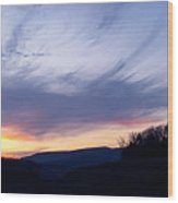 Hues Of Sunset Wood Print