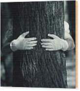 hug Wood Print