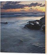 Hug Point Sunset Wood Print