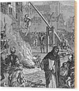 Huguenots: Persecution Wood Print