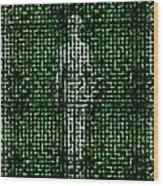 Human Body, Abstract Artwork Wood Print