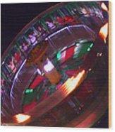 Human Roulette Wheel Wood Print
