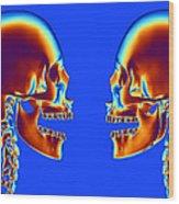 Human Skulls Wood Print