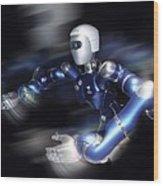 Humanoid Robot, Artwork Wood Print