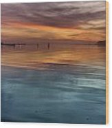 Humboldt Bay Dusk Wood Print