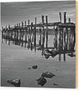 Humboldt Bay Ruins Wood Print