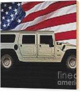 Hummer Patriot Wood Print