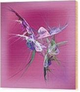 Hummingbird Fantasy Abstract Wood Print