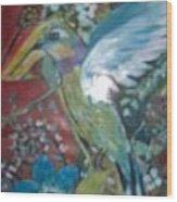 Hummingbird Fantasy Wood Print