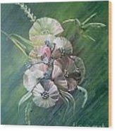 Hummingbird-green Wood Print