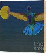 Hummingbird Moon Wood Print by Al Bourassa
