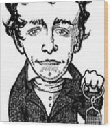Humphry Davy, Caricature Wood Print by Gary Brown