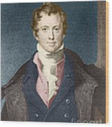 Humphry Davy, English Chemist Wood Print