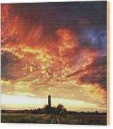 Hungarian Skies Pt.xl. Wood Print
