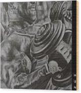 Hunger Wood Print