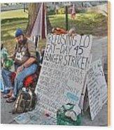 Hunger Strike Wood Print