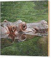 Hungry Hippo Wood Print
