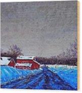 Hunterdon County Barns In Winter Wood Print