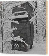 Huntin' Shack Wood Print
