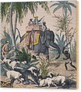 Hunting: Big Game, 1852 Wood Print