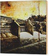 Huron River Dam Wood Print