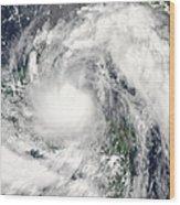 Hurricane Alex Wood Print