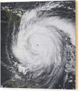 Hurricane Dean In The Atlantic Wood Print