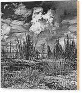 Hurricane Isaac Clouds Wood Print