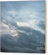 Hurricane Isaac Storm Clouds Wood Print