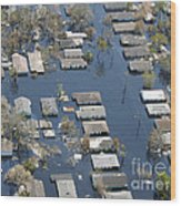 Hurricane Katrina Damage Wood Print